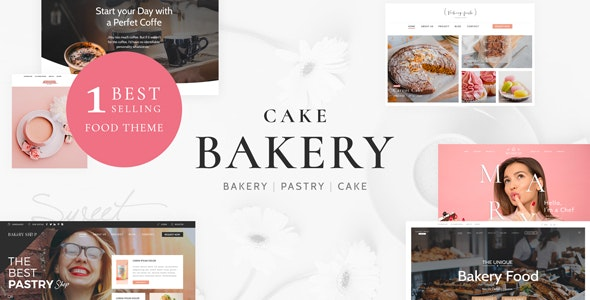 Cake Bakery - Pastry WP - Food Retail