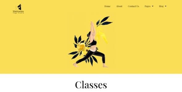 Mantrasana - Yoga Studio Elementor Template Kit