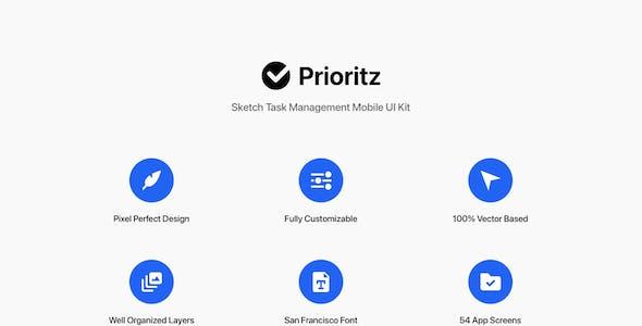 Prioritz - Sketch Task Management Mobile UI Kit