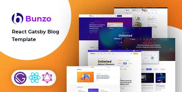 Bunzo - React Gatsby Blog Template - Creative Site Templates