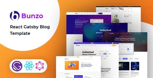 Bunzo - React Gatsby Blog Template