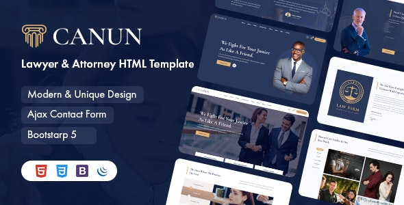 Canun v1.0 – Lawyer and Attorney HTML5 Template
