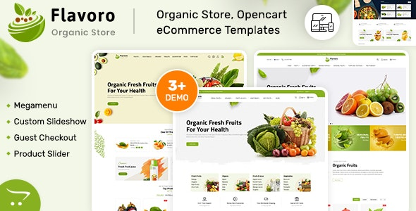 Flavero v2.0.4 – Organic Food OpenCart Store