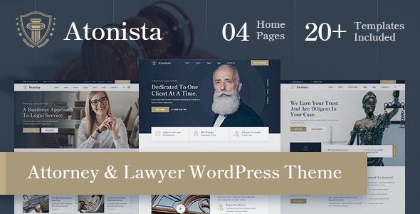 Atonista - Lawyer & Attorney WordPress Theme - Corporate WordPress