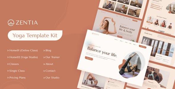 Zentia   Yoga Teacher & Studio Elementor Template Kit
