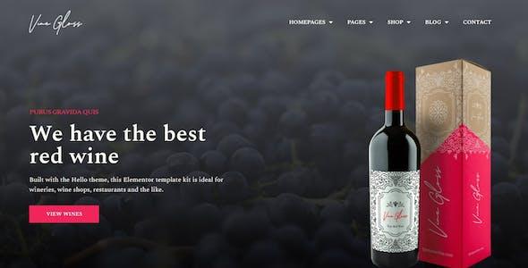 Vine Gloss - Wine Shop & Vineyard Elementor Template Kit