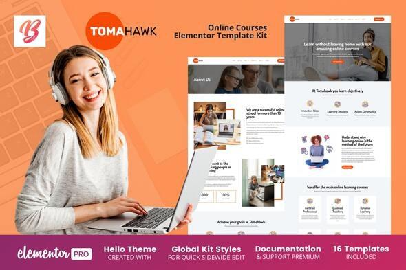 Tomahawk - Online Courses Elementor Template Kit - Education Elementor