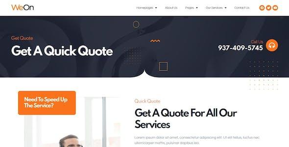 WeOn - Call Center & Telemarketing Elementor Template Kit
