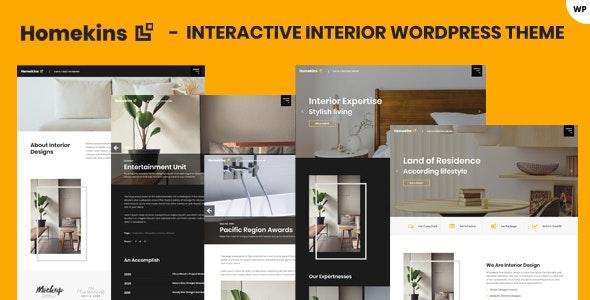 Homekins - Interior WordPress Theme - Business Corporate