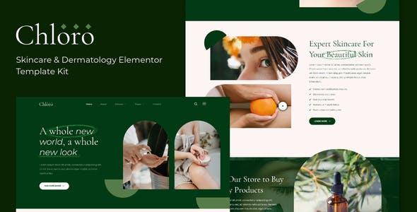 Chloro - Skincare & Dermatology Elementor Template Kit