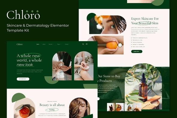 Chloro - Skincare & Dermatology Elementor Template Kit - Fashion & Beauty Elementor