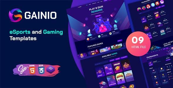 Gainio - eSports and Gaming HTML Templates