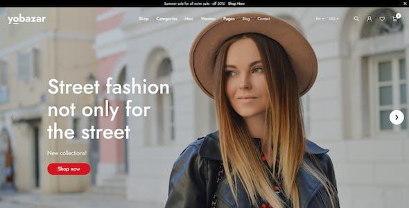 Yobazar - Elementor Fashion WooCommerce Theme