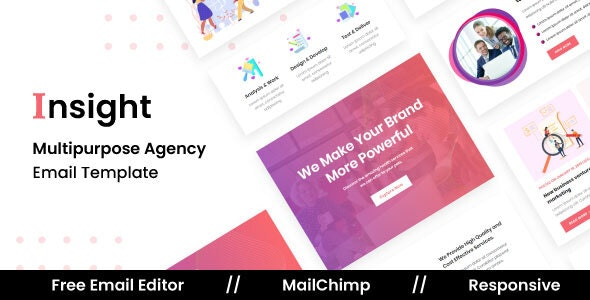 Insight Agency - Multipurpose Responsive Email Template - Newsletters Email Templates