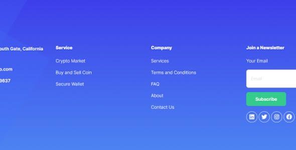 Yotro - Cryptocurrency Elementor Template Kit