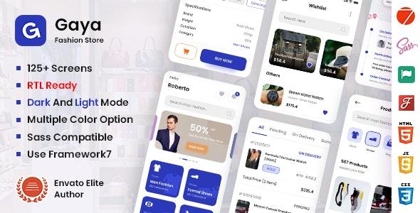 Gaya - Fashion Mobile App Template - Site Templates