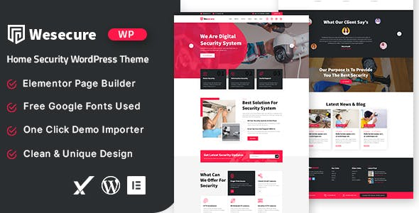 Wesecure – Home Security Free WordPress Theme