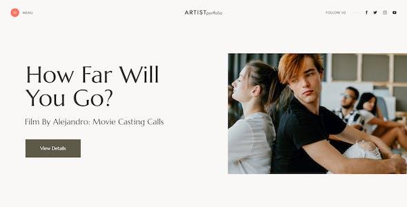 Artisio | Artist, Actor & Musician Elementor Template Kit