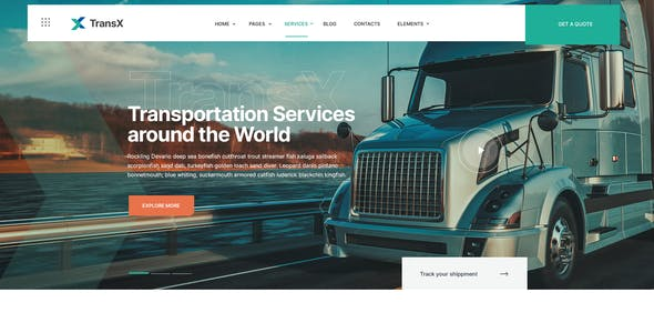 TransX | Transportation & Logistics WordPress Theme