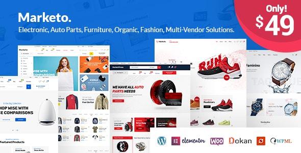 Marketo - eCommerce & Multivendor Marketplace Woocommerce WordPress Theme - WooCommerce eCommerce