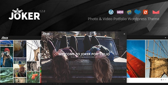 Joker - Photo & Video Portfolio WordPress Theme for Photographers - Photography Creative