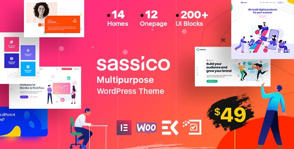 Sassico - Saas Startup Multipurpose WordPress Theme