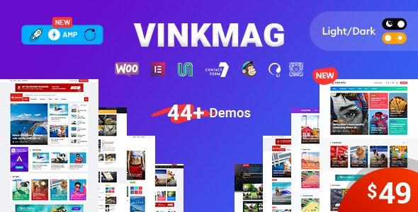 Vinkmag - AMP Newspaper Magazine WordPress Theme - News / Editorial Blog / Magazine