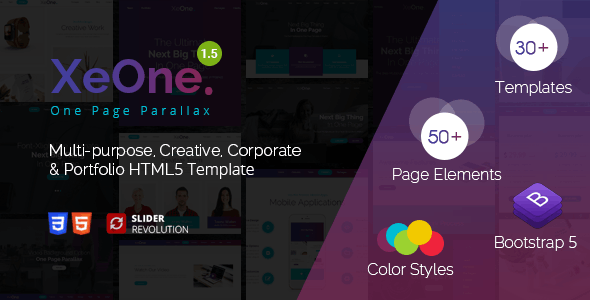 XeOne - One Page Parallax - Portfolio Creative