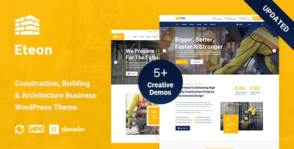 Eteon v1.0.6 – Construction And Building WordPress Theme