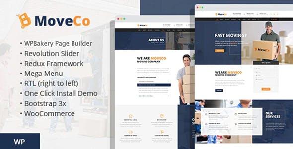 MoveCo - Logistics Company WordPress Theme