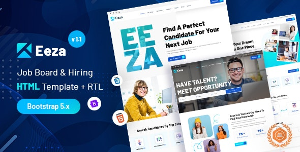 Eeza v1.0 – Job Board & Hiring + Dashboard HTML Template