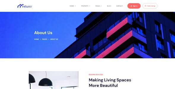 Reluxy - Real Estate Adobe XD Template