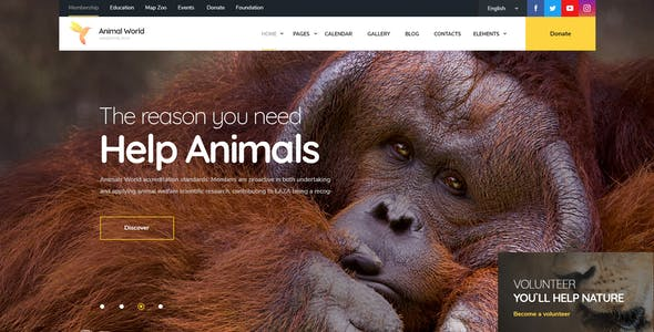 WildWorld | Nonprofit & Ecology WordPress Theme