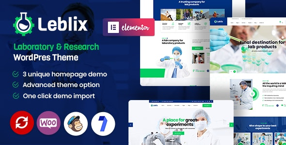Leblix - Laboratory & Research WordPress Theme - Business Corporate