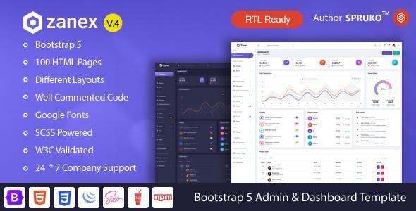 Zanex - Bootstrap 5 Admin & Dashboard Template