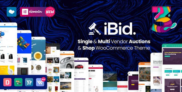 iBid v3.2.1 – Multi Vendor Auctions WooCommerce Theme