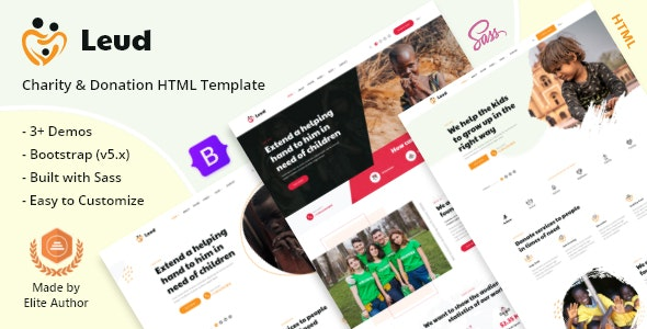 Leud - Charity & Donation HTML Template - Charity Nonprofit