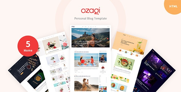 Ozagi - Personal Blog HTML Template - Personal Site Templates