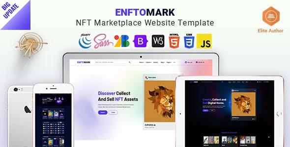 Enftomark - NFT Marketplace Website template