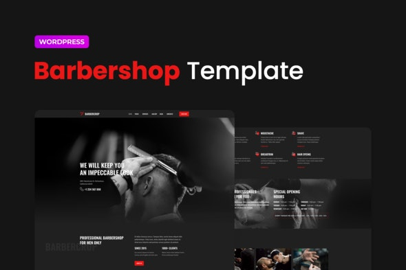 Barbercrop – Hairdressing Elementor Template Kit - Fashion & Beauty Elementor