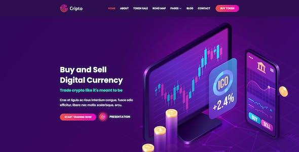 Cripto - Cryptocurrency & Bitcoin Elementor Template Kit