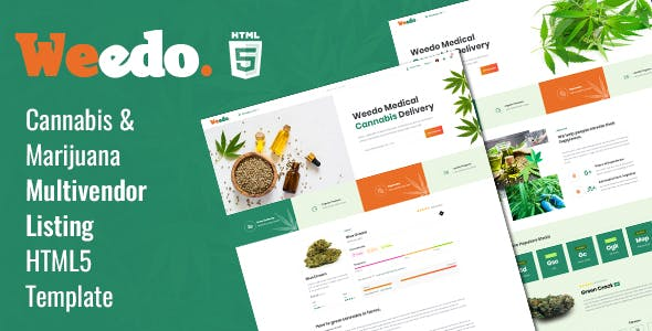 Weedo | Cannabis Listing HTML5 Template