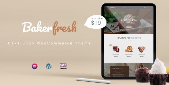 Bakerfresh Cake Shop Free WooCommerce WordpressTheme