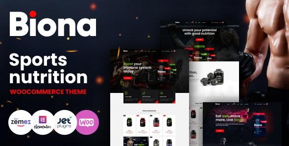 Biona v1.0.12 – Sports Nutrition WooCommerce Theme