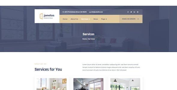 Janelas – Windows & Doors Services Elementor Template Kit