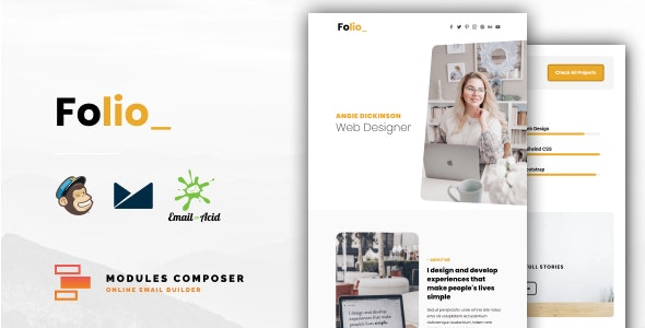Folio v1.0 – Personal Portfolio Responsive Email ideal for Creatives with Online Builder