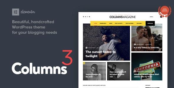 Columns - Impressive Magazine and Blog theme - Personal Blog / Magazine