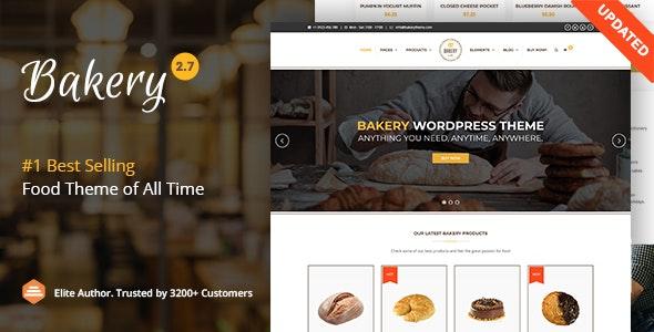Bakery v2.7 – WordPress Cake & Food Theme