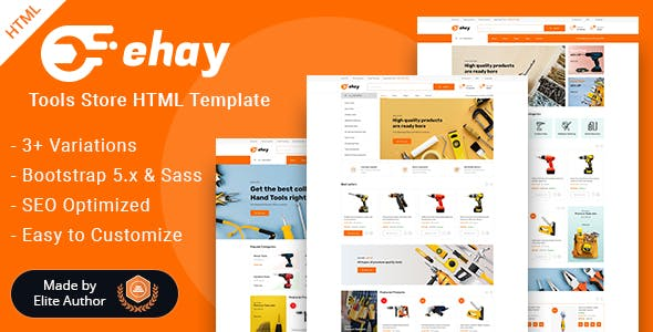 Ehay - Tools Store eCommerce HTML Template