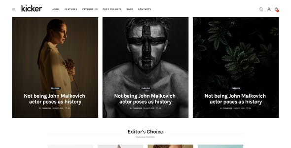 Kicker - Multipurpose Blog Magazine WordPress Theme + Gutenberg